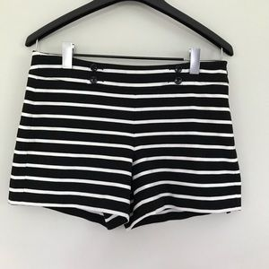 EUC. White household black market striped shorts.